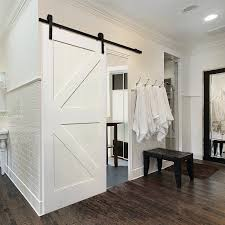 Erias Home Designs Top Of Door Sliding Barn Door Hardware by Verona Home Design Single Stile And Rail K Planked Mdf 4 Panel