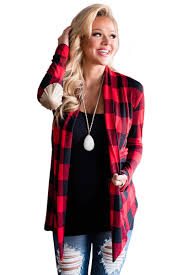 plaid sweater us 6 56 suede patch sleeve plaid cardigan dropshipping