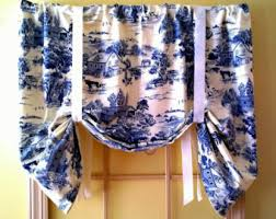 Toile Window Valances Tie Up Window Valance Floral Tie Up Curtain Elegant And