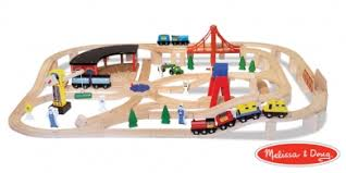 melissa and doug train table and set melissa and doug 130 piece wooden train set brio and thomas the