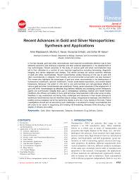 cheminform abstract recent advances in gold and silver