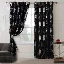 Black Curtains Bedroom Floral Patterns Black Bedroom Blackout Curtains