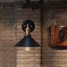 Edison Bulb Wall Sconce Industrial Loft Matte Black Single Vintage Edison Light Bulb Wall