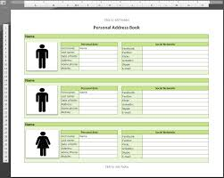 Address Template For Excel Template For Address Book Database Conference Excel Phone List And