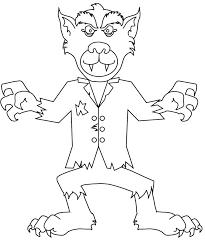 werewolf 5 characters u2013 printable coloring pages