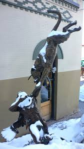mountain lion statue unmeaning flattery image statue in park city utah of an indian