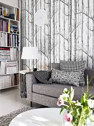 woodland wallpaper from anthropologie love the grey colour