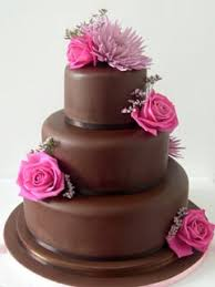 brown cake delicious brown wedding cakes
