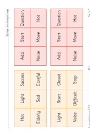 Light Synonyms Synonym And Antonym Bingo Synonyms And Antonyms Home Page