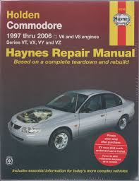 holden commodore vt vx vy workshop repair manual 100 images