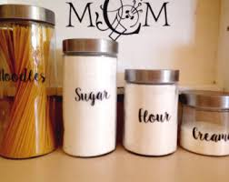 kitchen canisters set of 4 canister decal etsy