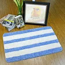paillasson cuisine fiber de polyester tapis anti dérapage bleu bande tapis paillasson