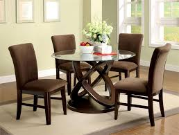 Circle Dining Table And Chairs Glass Dining Table And Chairs Brilliant Ideas Impressive