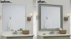 how to frame a bathroom mirror with molding how to frame bathroom mirror with tile bathroom decor ideas