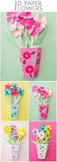 how to make 3d paper flower bouquets with video and free templates