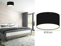 Wohnzimmer Deckenleuchten Design Deckenlampe Rund Stoffschirm U0026 Satinierte Abdeckung Wohnzimmer