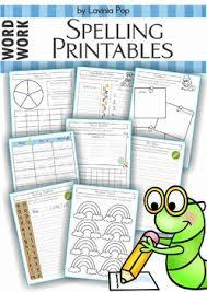 spelling word work 17 printable worksheets by lavinia pop tpt
