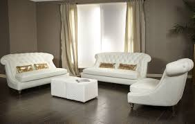 White Leather Tufted Sofa 3 Damario White Leather Tufted Sofa Set Usa Furniture