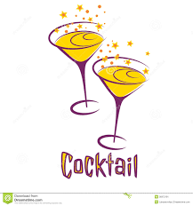 retro martini cocktail party clipart collection