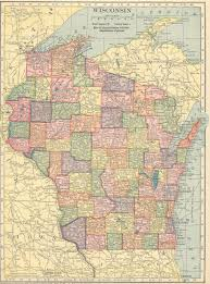 Wisconsin Map Usa The Usgenweb Archives Digital Map Library Hammonds 1910 Atlas
