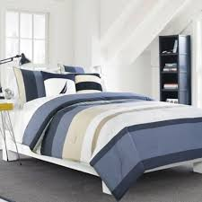 Blue Striped Comforter Set Buy Nautica Blue White Striped Comforter From Bed Bath U0026 Beyond