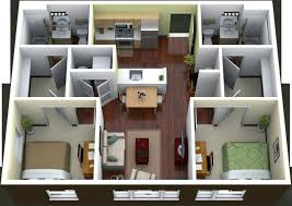 bedroom large 2 bedroom apartments floor plan brick wall mirrors