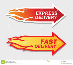 express and fast delivery symbols stock image image 35988531