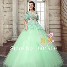 Medieval Renaissance Halloween Costumes Mint Green Medieval Renaissance Gown Sissi Princess Dress Costume