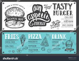 food menu restaurant cafe design template stock vector 656128936