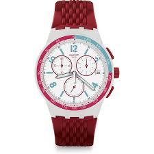 red swatch swatch susm403 watch red track