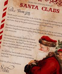 letter from santa nice list certificate personalised letter