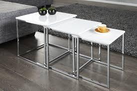 design beistelltische design beistelltisch stage 3er set weiss dunord design hamburg
