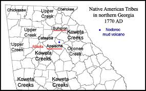Indian Tribes North America Map by The Mysterious Bohuron Tribe In Northeast Georgia Native