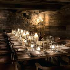 decorations jean georges candles rustic restaurant decor ideas