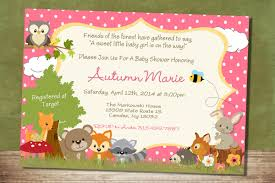 Gift Card Baby Shower Invitations Baby Forest Themed Baby Shower Invitation Woodland Baby