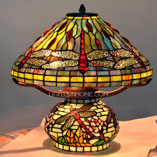 Dragonfly Light Fixture Vintage Style Dragonfly L 3 Light Colored Glass