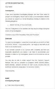 investigation report template disciplinary hearing 20 disciplinary letters templates hr templates free premium