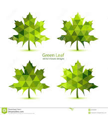 green mosaic vector maple leaf royalty free stock photos image