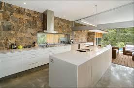 steinwand küche erfinderische küchen mit steinwand design ideen