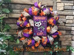 Dia De Los Muertos Halloween Decorations Sugar Skull Wreath Day Of The Dead Wreath Cat Wreath Halloween