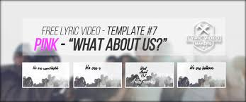 free lyric video template 7 pink
