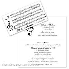 faire part mariage musique faire part thème partition musique sur decorations pour mon mariage fr