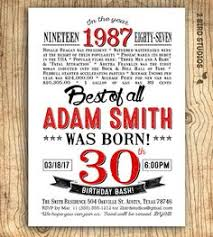 30th birthday prints 30th birthday print download by createdbys