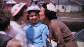 kids doing the twist in the driveway 1962 vintage 8mm film