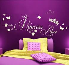 wall art for girl bedroom home design delightful wall art for girl bedroom aliexpress com buy princess crown personalised name children