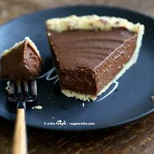 Crustless Pumpkin Pie by Vegan Chocolate Pumpkin Pie With Almond Crust Vegan Richa