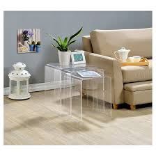 acrylic nesting tables set of 3 fox hill trading target