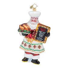 radko ornaments 2015 radko santa cooking ornament cookin claus