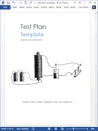 test plan download ms word u0026 excel template