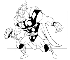 coloring pages avengers printable thor coloring pages for kids 360coloringpages